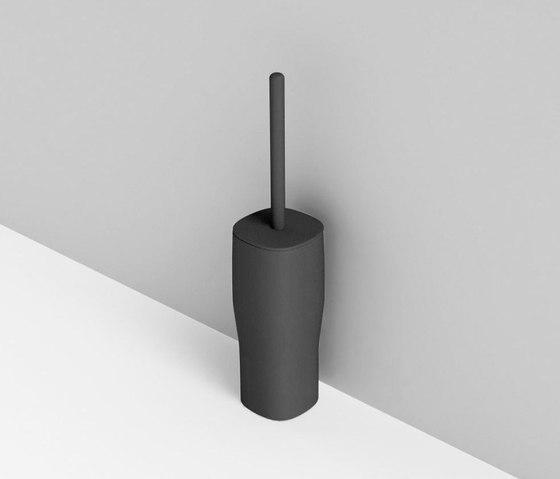 Smooth brush holder by Rexa Design | Toilet brush holders