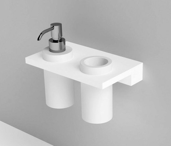 Unico soap dispenser   tooth-brush holder by Rexa Design   Soap dispensers