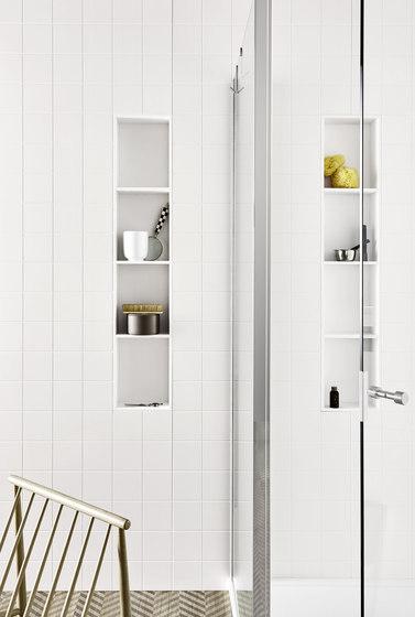 Unico CORIAN®  wall cabinet by Rexa Design | Bath shelves