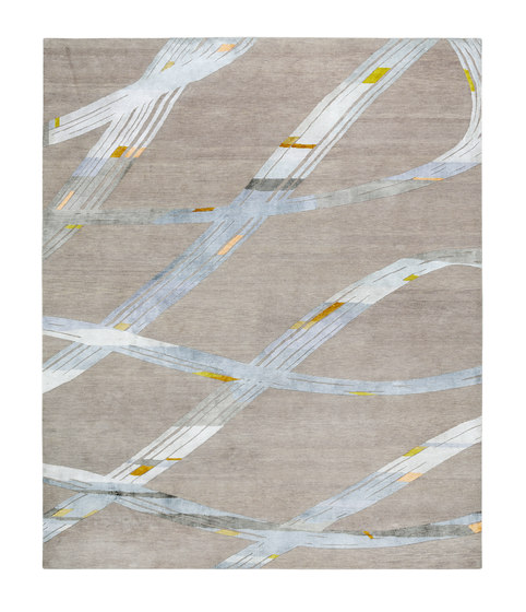 4-Minute Rug - Ribbon aquamarine by REUBER HENNING | Rugs