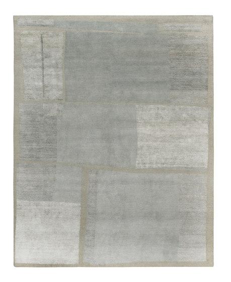 Rag Time - Line Up Pale blue von REUBER HENNING | Formatteppiche