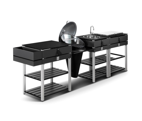 ocq Modular | Edition Grey Charcoal de OCQ | Cuisines d'extérieur