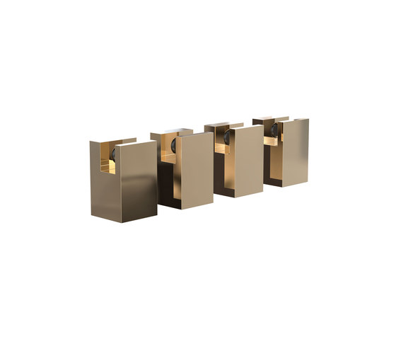 Quadra Mirror Holder by Frost   Bath shelves