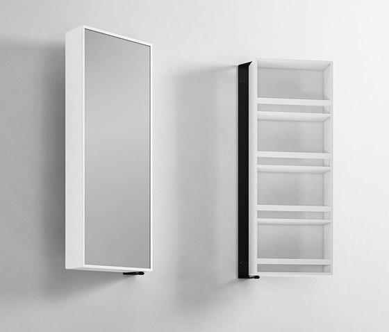 Miroir tournant en Corian de Rexa Design | Armoires de toilette