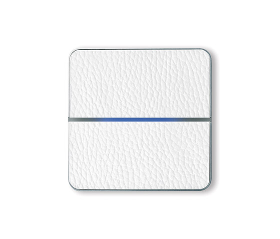 Enzo switch - white leather - 2-way by Basalte | KNX-Systems