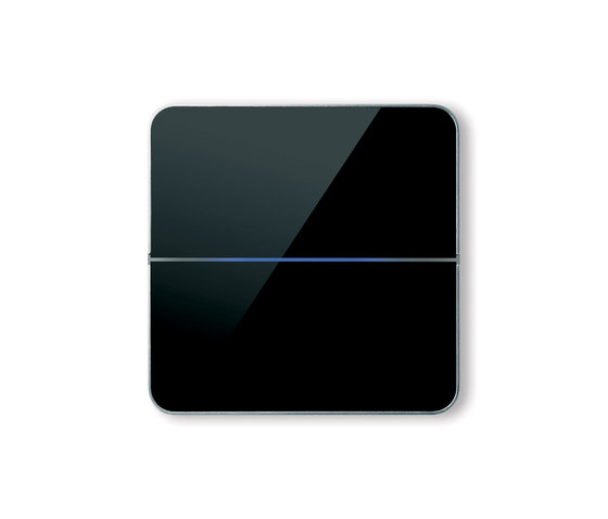 Enzo switch - black glass - 2-way by Basalte | KNX-Systems