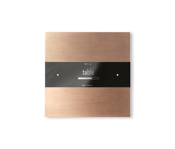 Deseo intelligent thermostat - soft copper by Basalte | KNX-Systems