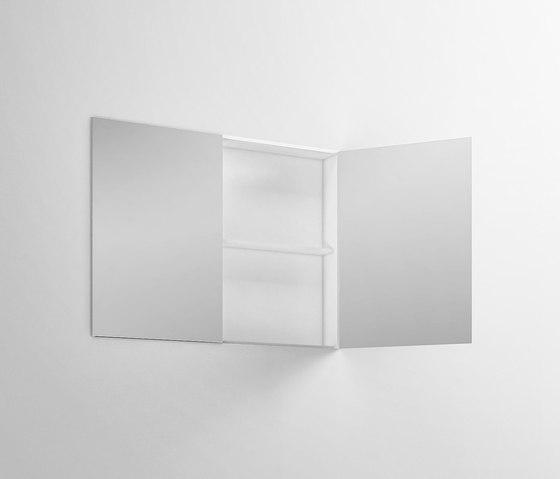 Specchiera contenitiva in Corian di Rexa Design | Armadietti specchio