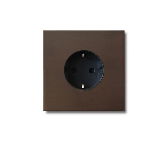 Power outlet - bronze - 1-gang by Basalte   Schuko sockets