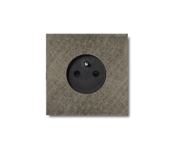 Power outlet - fer forgé grey - 1-gang by Basalte   Schuko sockets