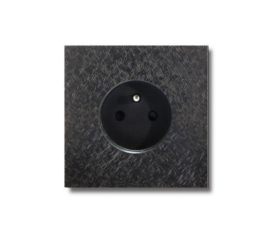 Power outlet - fer forgé gunmetal - 1-gang by Basalte | Schuko sockets
