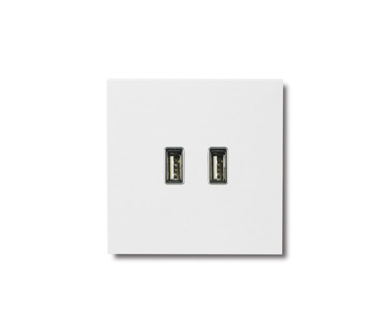 USB outlet - satin white by Basalte | USB power sockets