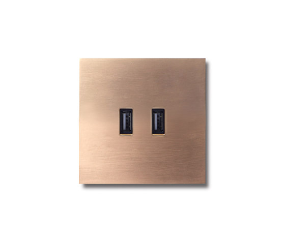 USB outlet - soft copper by Basalte | USB power sockets