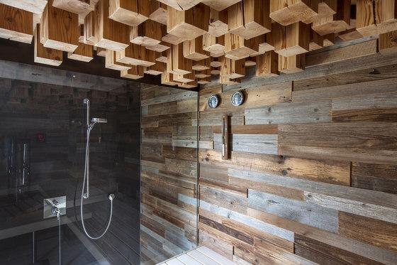 Old Wood & Casing Panoramic sauna by DEISL SAUNA & WELLNESS | Saunas