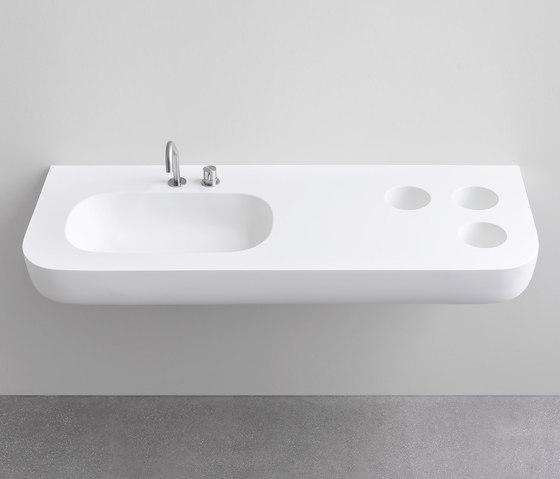 Esperanto integrated top by Rexa Design | Wash basins