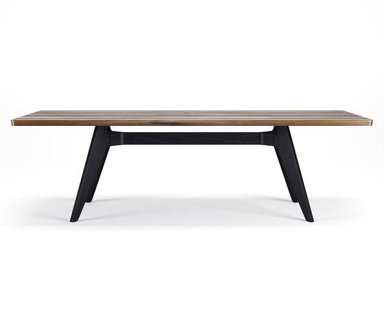 Lavitta Table 240cm – Walnut / Stained Black de Poiat | Mesas comedor