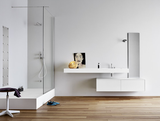 Unico Top with integrated washbasin by Rexa Design | Wash basins