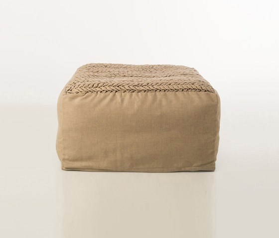 Accessories | Site Chevron outdoor pouf von Warli | Poufs / Polsterhocker