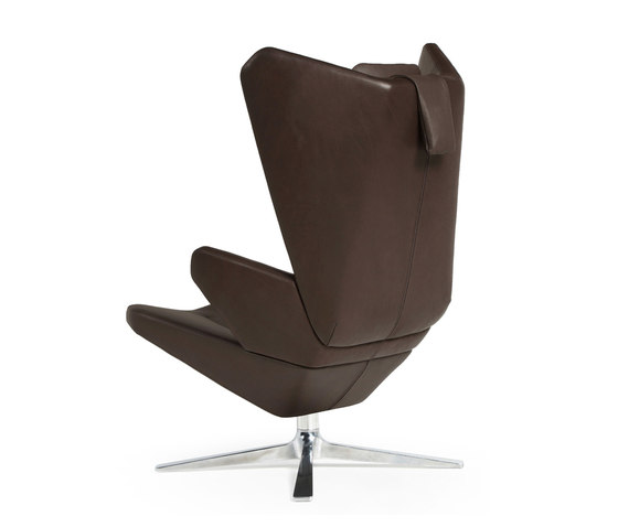 Trifidae lounge chair leather by Prostoria   Armchairs