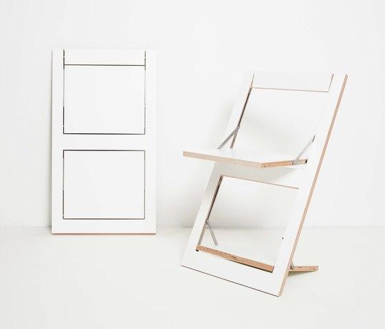 Fläpps Folding Chair | White de Ambivalenz | Sillas