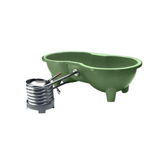 Dutchtub Loveseat Olive Green by Weltevree | Outdoor bathtubs