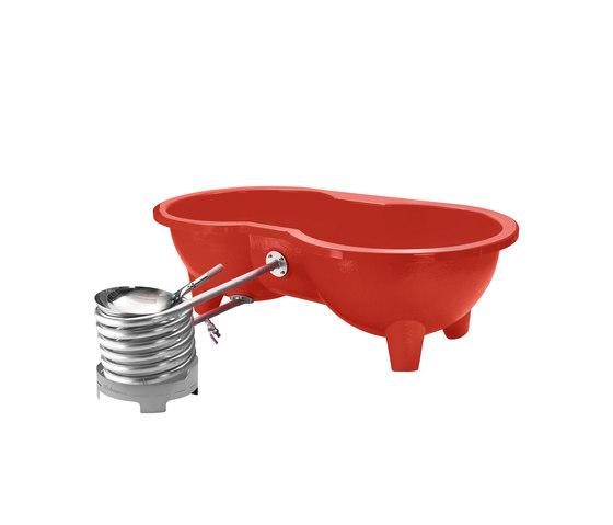 Dutchtub Loveseat Terra Red by Weltevree | Outdoor bathtubs