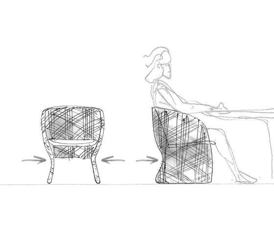 Maat poltrona lounge di Varaschin | Poltrone