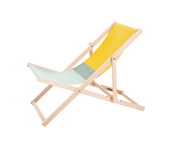 Beachchair green/yellow di Weltevree | Lettini giardino