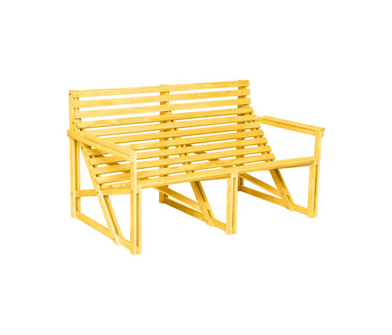 Patiobench 2-3 Yellow by Weltevree | Benches