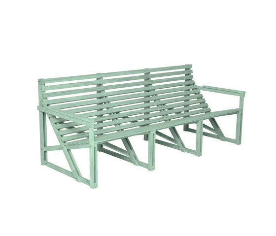Patiobench 4-5 Green by Weltevree | Benches
