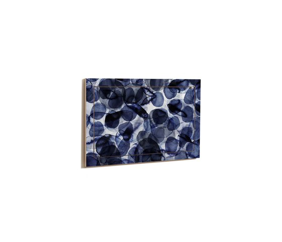 Fläpps Secretary Wall Desk | Bubbles Indigo by Pattern Studio by Ambivalenz | Shelving