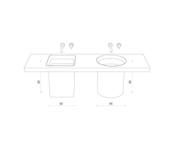 Abisso Built-in washbasin de Atelier12 | Lavabos