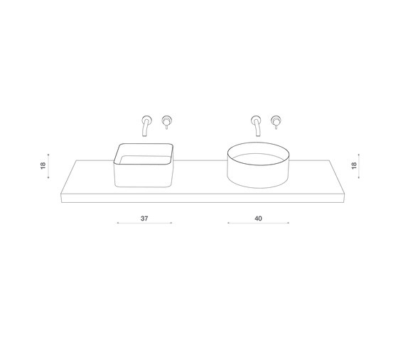 Abisso Countertop low profile washbasin by Atelier12 | Wash basins