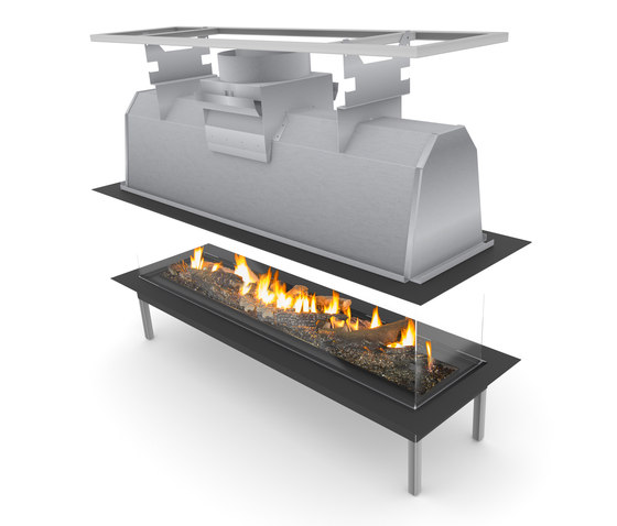Sinatra Island 1200, 1600, 2000, 2400 by Planika | Open fireplaces