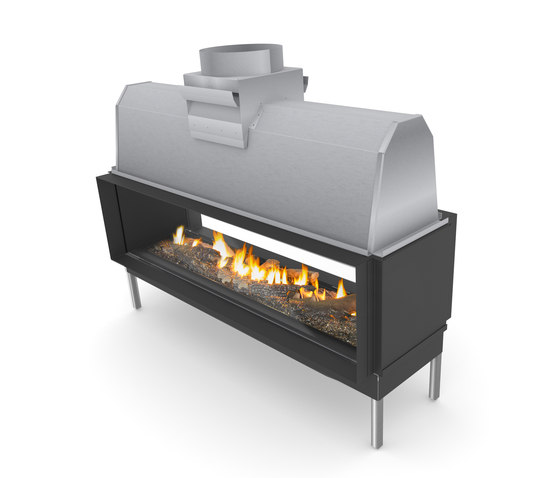 Sinatra Tunnel 1200, 1600, 2000, 2400 by Planika   Open fireplaces