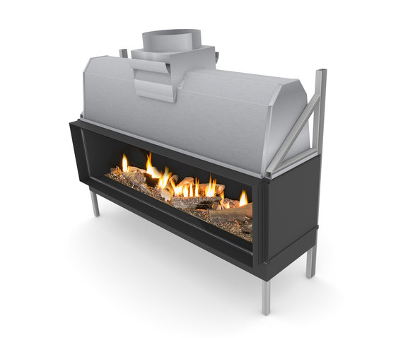 Sinatra F | Front Glazing 1200 / 1600  / 2000 / 2400 by Planika | Open fireplaces