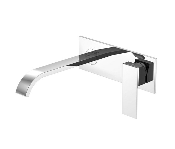 135 1874 Wall mounted single lever basin mixer (Finish set) by Steinberg | Wash basin taps