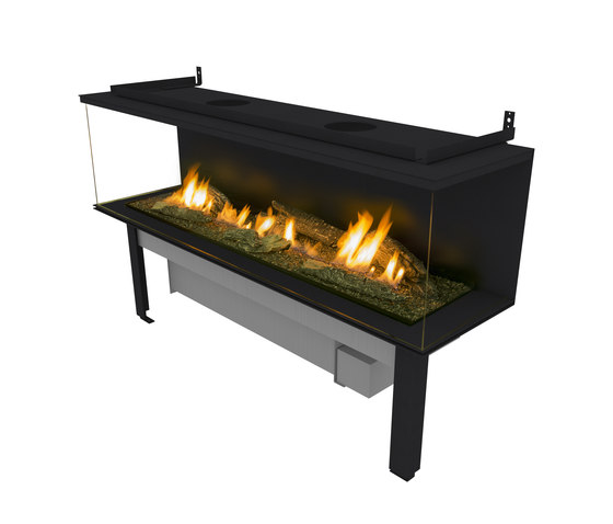 FLA 3 XL Suite Logs by Planika | Fireplace inserts
