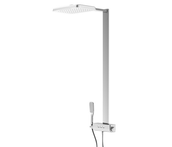 390 2743 Shower set with 2 jet head shower by Steinberg   Shower controls