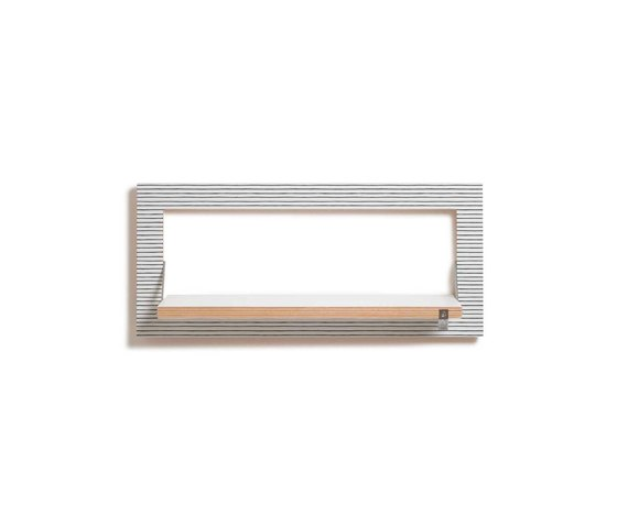 Fläpps Shelf 60x27-1 | Watercolor Stripes by Kind of Style by Ambivalenz | Shelving
