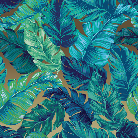 Luminous Palms | LP1.07 SG von YO2 | Wandbeläge / Tapeten