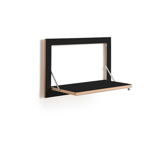 Fläpps Shelf 60x40-1 | Black by Ambivalenz | Shelving