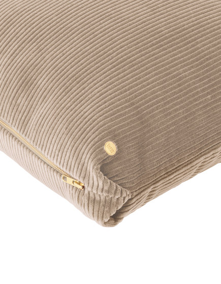 Corduroy Cushion - Beige de ferm LIVING | Coussins