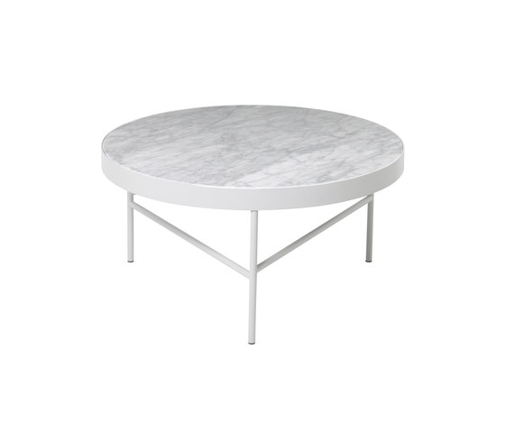 Marble Table - White Bianco Carra - Large by ferm LIVING | Side tables