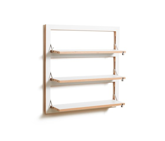 Fläpps Shelf 80x80-3 | White by Ambivalenz | Shelving