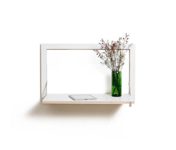 Fläpps Secretary Wall Desk | White by Ambivalenz | Shelving