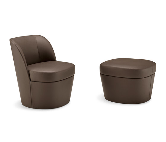 Tam Tam | lounge armchair mono with pouf by Frag | Armchairs