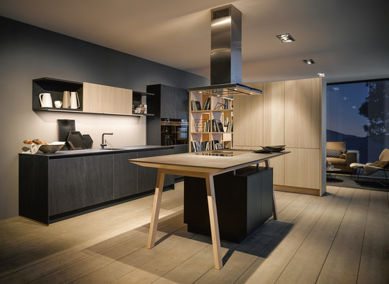 next125 cooking table Ceramic graphite by next125 | Island kitchens