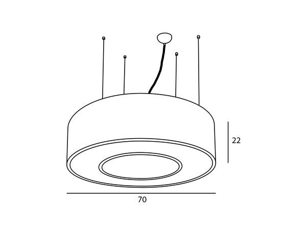 Donut-Ring M de Passion 4 Wood | Lámparas de suspensión