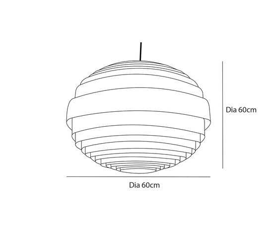 Sphere L by Passion 4 Wood | Suspended lights